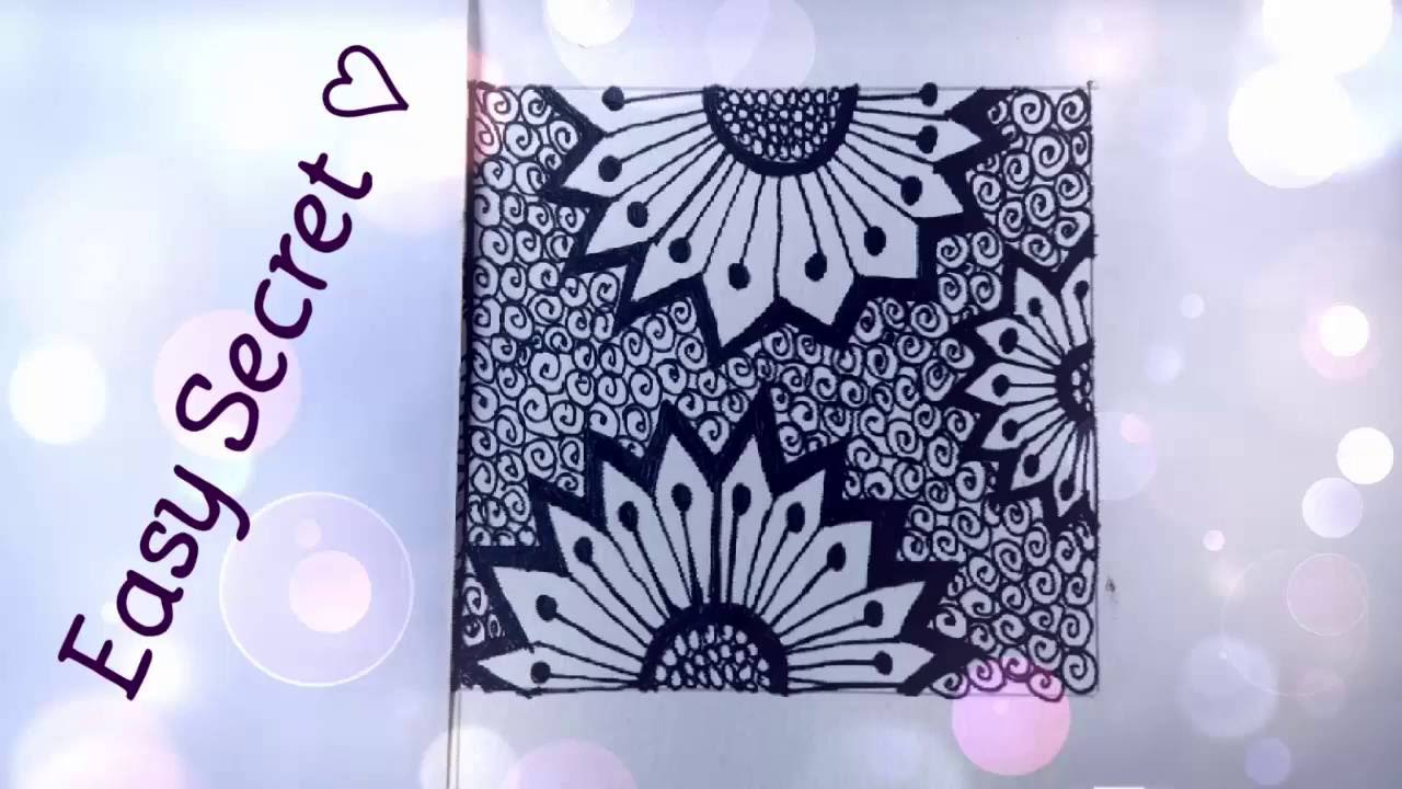 Cute easy zentangle pattern to draw youtube for Cute easy patterns to draw
