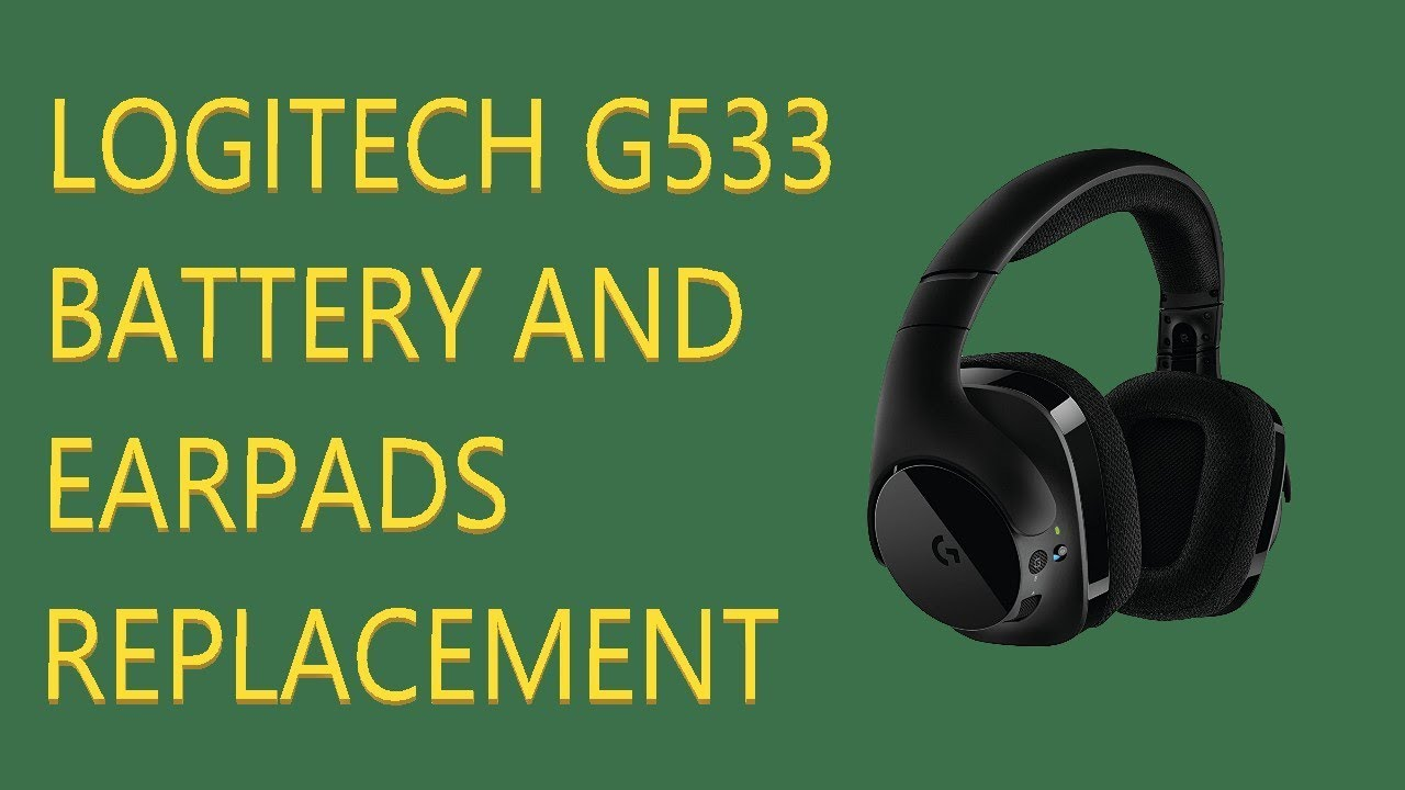 How To Replace Logitech G533 Battery Earpads