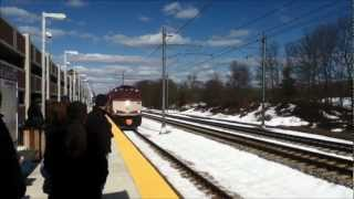 Acela Express, Northeast Regional and MBTA Commuter Rail at Wickford Junction