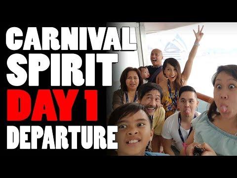Carnival Spirit Cruise Day 1 Vlog - Departure Day (Day 1 - Sat, 2 Dec 2017)