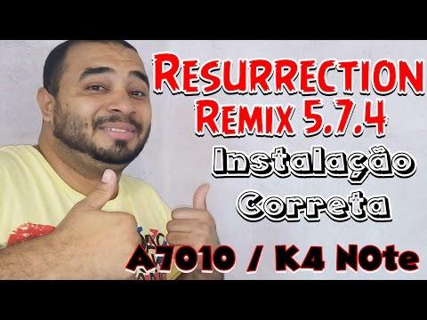 Resurrection remix 5 7 4 Para Lenovo Vibe A7010 / K4 Note