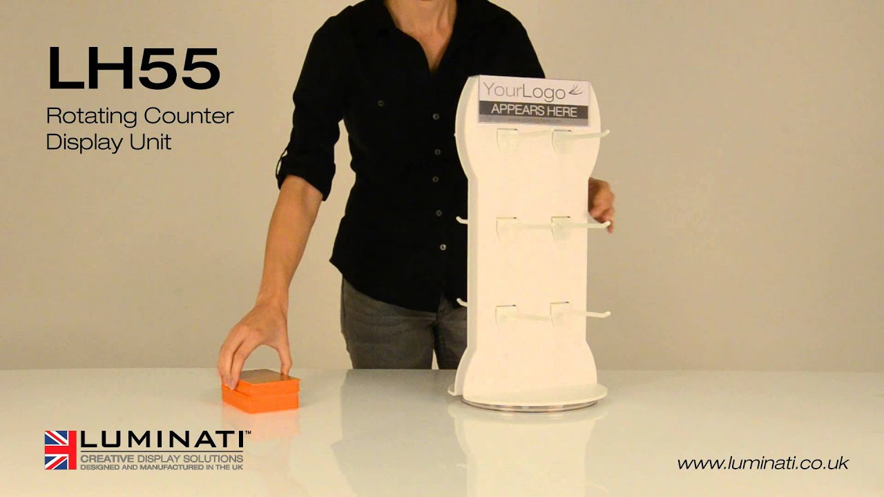 rotating counter display unit luminati ltd youtube