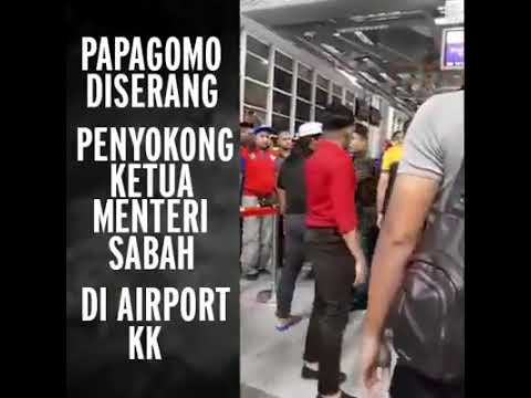 PGomo the previous BN sanctioned. Bully receives a flying high Kick welcome @ KK Airport.