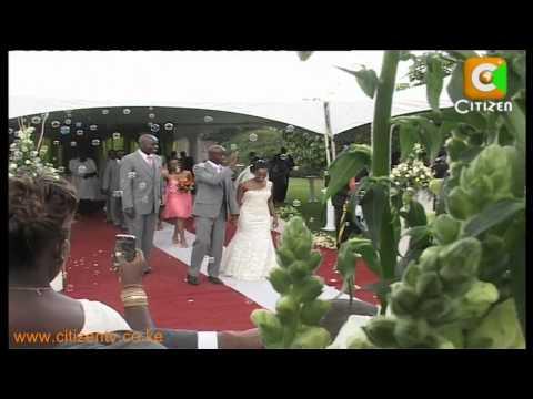 Moi Attends Raila Son's Wedding