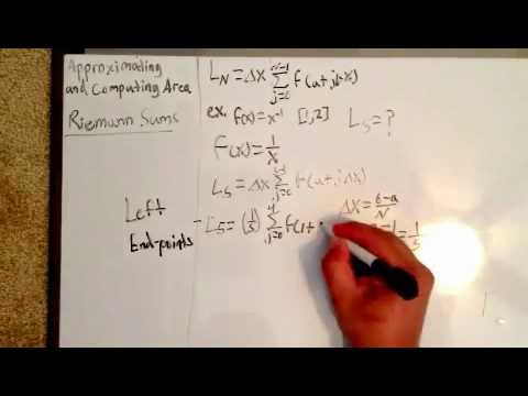 how to find the riemann sum