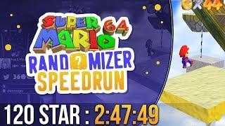 Super Mario 64 Randomizer 120 Star Speedrun in 2:47:49