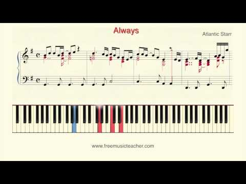 "How To Play Piano: Atlantic Starr"" Always Piano Tutorial by Ramin Yousefi"