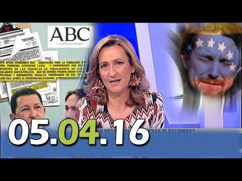 Más Claro Agua 13tv 5/4/16 ABC: Venezuela pagó 7 millones para impulsar cambios políticos en España.
