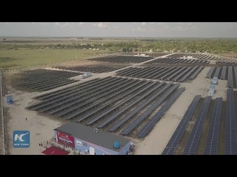 China delivers two solar panel parks to Cuba