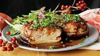 【ジューシー】ジャンボ椎茸の肉詰めハーモニー