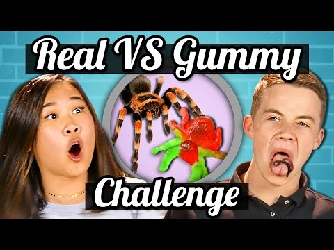 TEENS vs GUMMY FOOD vs REAL FOOD CHALLENGE!!!   Teens Vs. Food