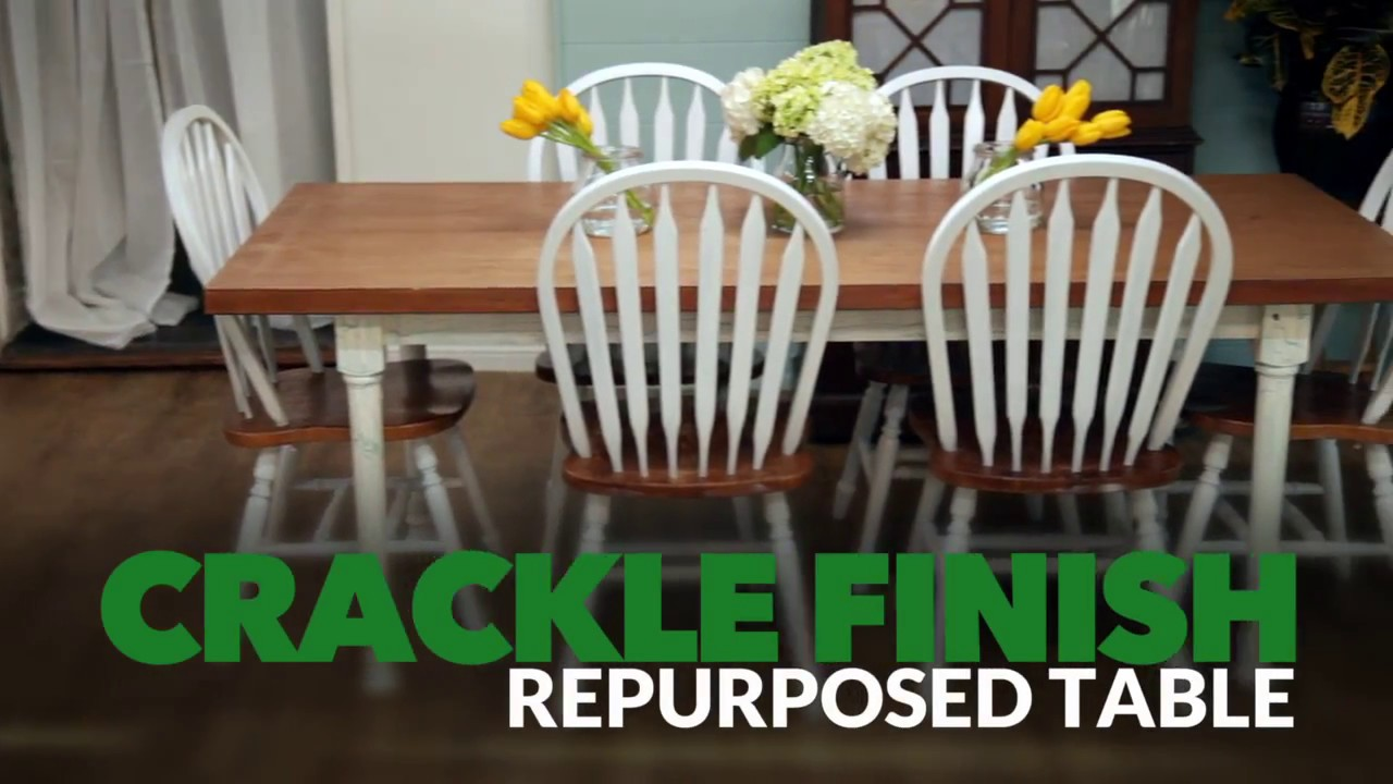 how to create crackle finish on dining table youtube