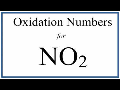 How To Find The Oxidation Number For N In No2 Nitrogen Dioxide