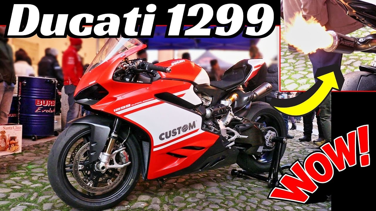 This Expensive Ducati 1299 Superleggera spits AMAZING Exhaust Flames💥 - €80.000 SuperBike Warm-Up!