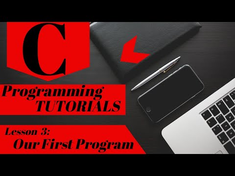 C Programming Tutorial | Lesson 3 | Our First Program thumbnail