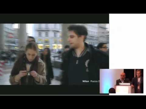 Screen Media Expo, Connected Content: Alfio Pozzoni, Fabrica. Giovanni Flore, Benetton Live Windows