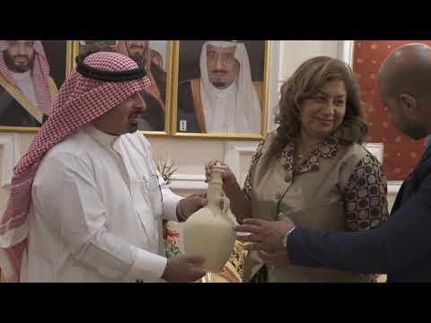 زيارة القنصل الأمريكي بالظهران - السيّدة: راتشنا كورهونن - لمنزل رجل الاعمال: محمد الخرس (بو هاني)