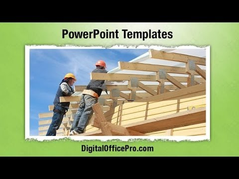new home construction powerpoint template backgrounds