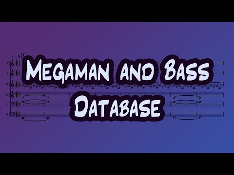 Megaman and Bass - Database ORIGINAL SHEET MUSIC
