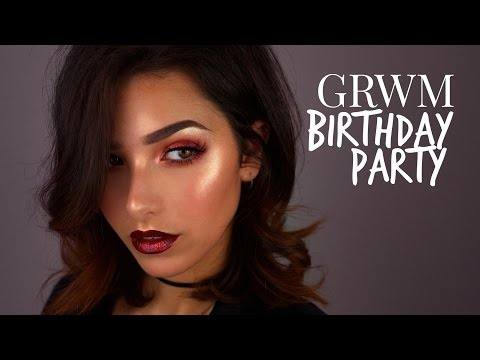 GRWM BIRTHDAY PARTY MAKEUP TUTORIAL
