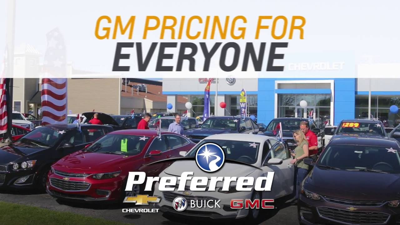 Gm Employee Pricing For Everyone 15 Preferred Chevy Buick Gmc