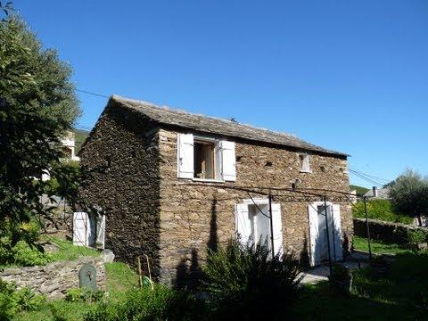 Vakantiehuis bij Sisco, Corsica, op de Cap Corse op 1,5 km van kiezelstrand. Vakantiehuis Corsica.