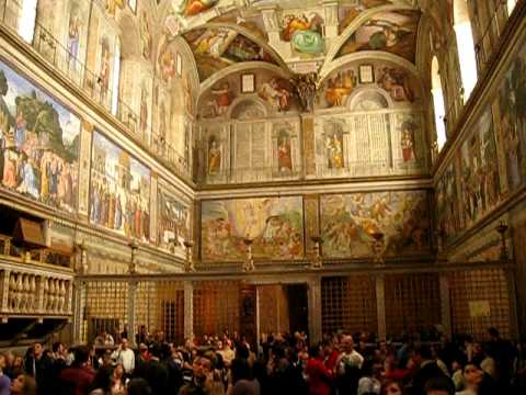 Vatican City - Rome - Italy - Sistine Chapel - Vatican Museum - not totally legal filming actually