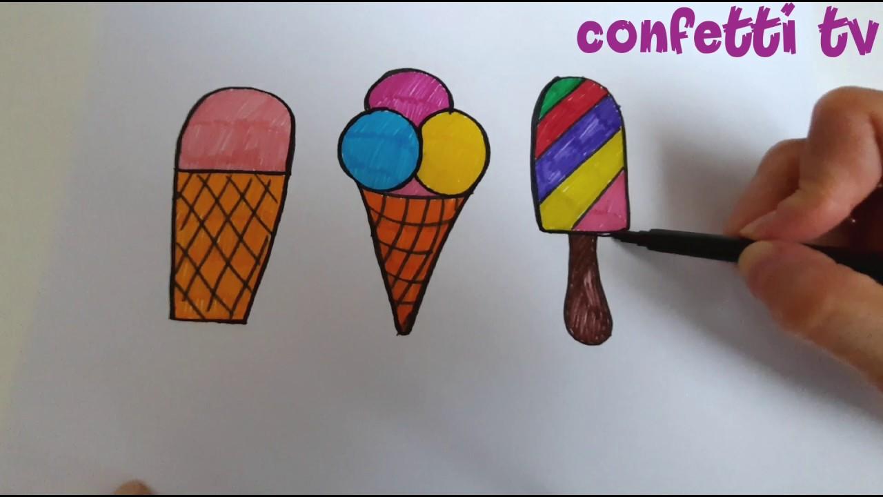 Мороженое ice cream Раскраска рисуем и поем - YouTube