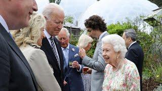 video: Watch: G7 world leaders meet the Queen