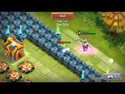 Castle Clash Testing Out LvL 15 Walls!!