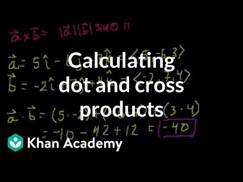 Calculating dot and cross products with unit vector notation | Physics | Khan Academy