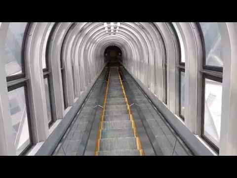Terrifying world's highest escalator - Umeda Sky Building
