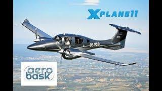 X Plane 11 | AEROBASK DIAMOND DA-62 | KIPL - KSAN | G1000 RNAV APPROACH