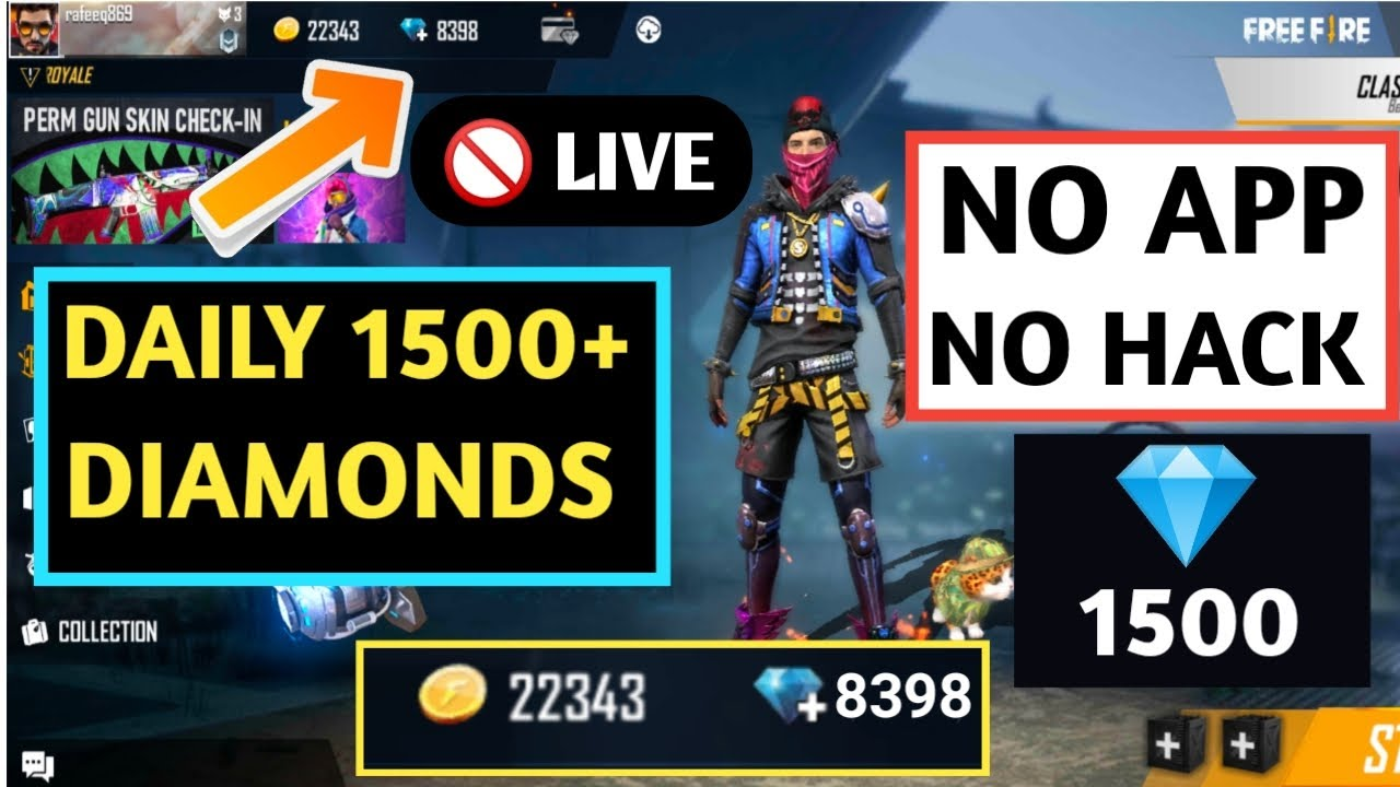 How To Get Unlimited Diamonds In Free Fire No Apps No Hack Live Proof Youtube