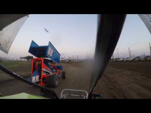 Miami County Speedway Wing Class Heat Race 9-24-2016 Race For Ryley