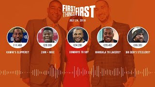 First Things First audio podcast(7.24.19)Cris Carter, Nick Wright, Jenna Wolfe | FIRST THINGS FIRST