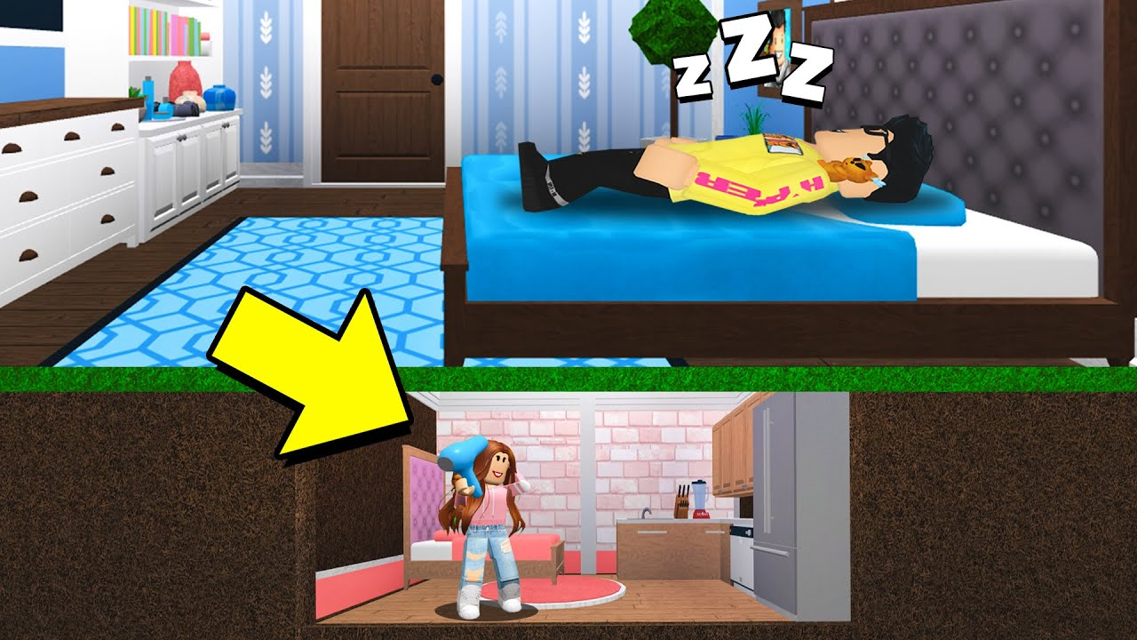 I Built A TINY HOUSE Under My Boyfriend's Home! (Roblox Bloxburg) thumbnail