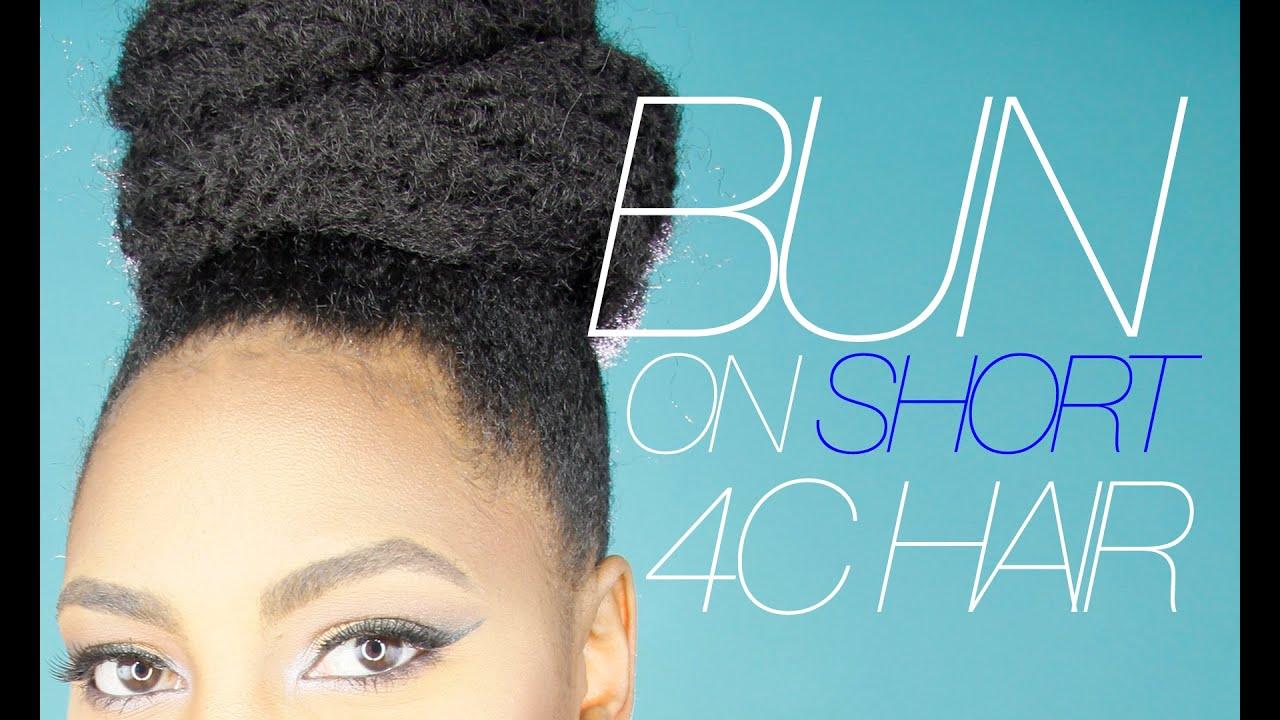 Protective Hair Styles For Short 4c Hair: Marley Bun On SHORT 4C Hair