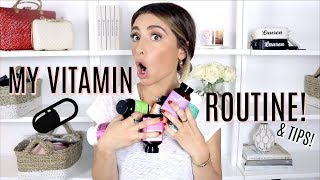 MY VITAMIN COLLECTION & ROUTINE! Beauty & Weight Loss | Lauren Elizabeth