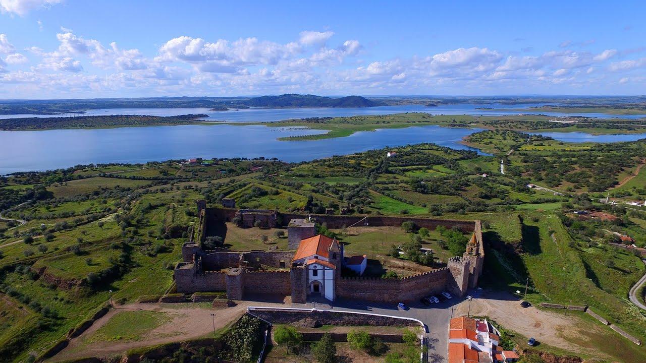 Mourão Castle Aerial View Castelo De Mourão Alqueva