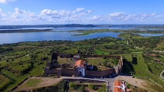 Mourão Castle aerial view - Castelo de Mourão - Alqueva - 4K Ultra HD