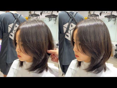 tóc Lỡ layer dành cho mặt tròn   Hướng dẫn Cắt