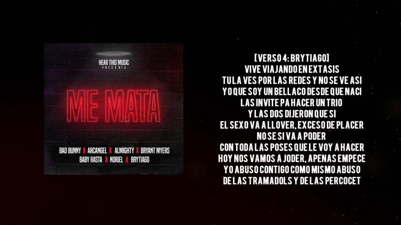 Me Mata [LYRICS] - Bad Bunny x Arcangel x Bryant Myers x Almighty ...