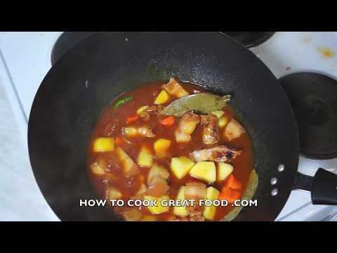 paano-magluto---pork-afritada-recipe---filipino-pinoy-english-tagalog