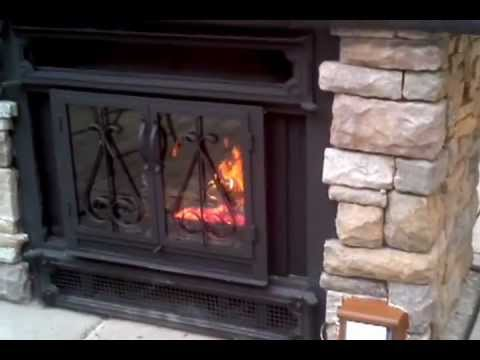 Old Indoor Wood Fireplace used Outdoors - YouTube