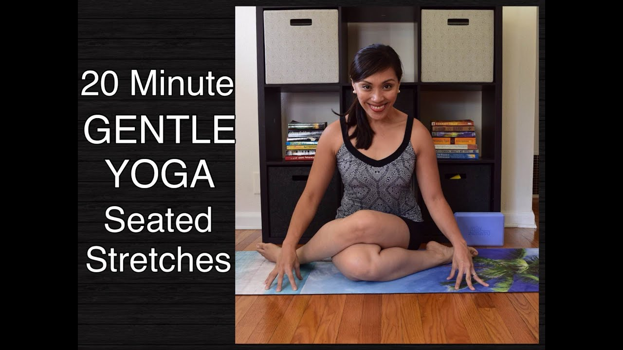 20 Minute Gentle Yoga Class Seated Poses Youtube