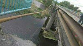 На Харьковщине рухнул мост через Северский Донец