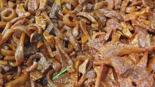 풍물시장 꼼장어,돼지껍데기/sea eel cooking…