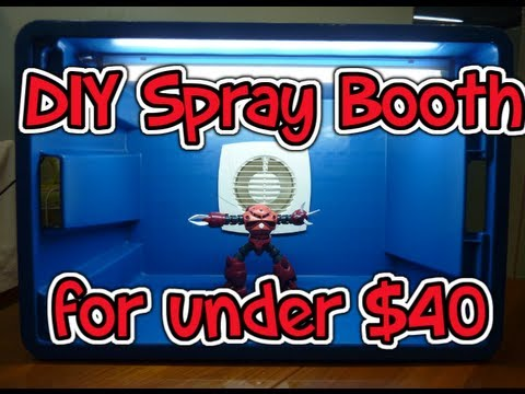 DIY Spray Booth for under $40 - YouTube