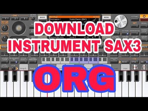 Download instrument Sax3 untuk ORG 2018 - 2020